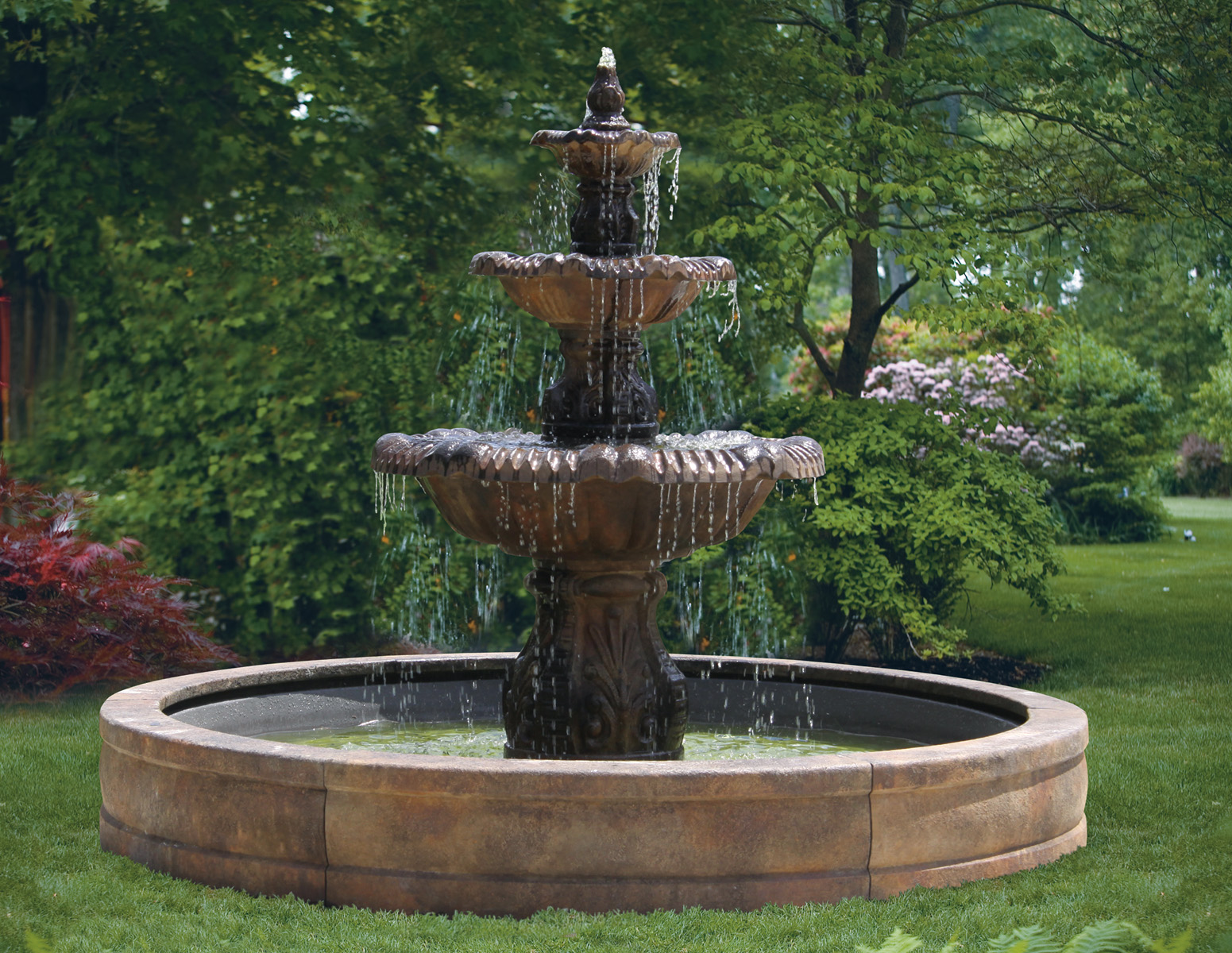 80 Calabria Fountain With Surround And 8 39 Fiberglass Pool