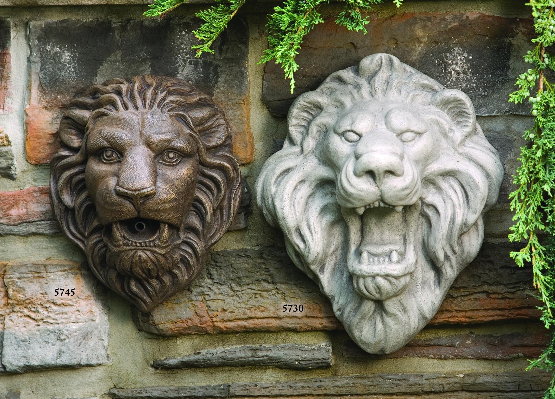 11 Quot Lion Head Plaque Plumbed Massarelli S