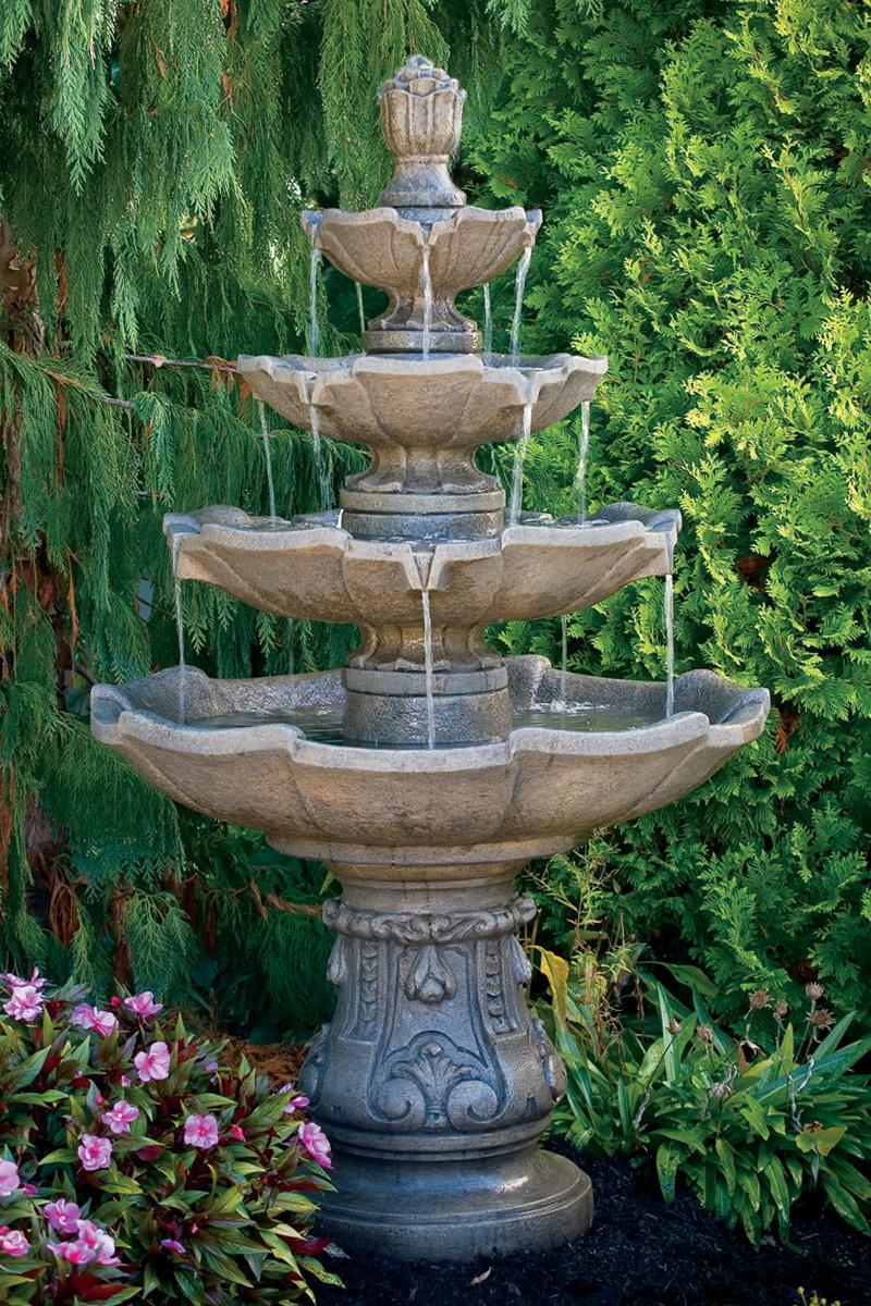 Classic Four Tier Fountain Massarelli S