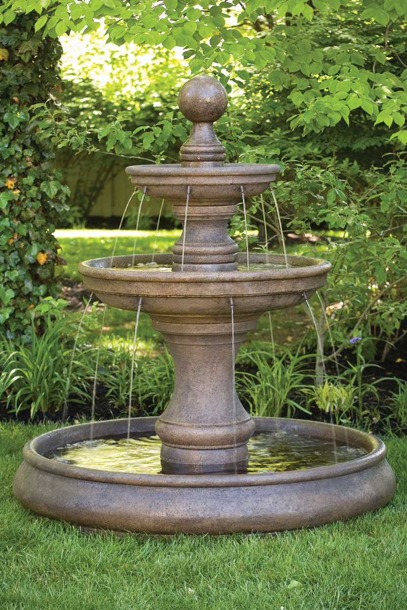 Opal Two Tier Fountain With Pool Massarelli S