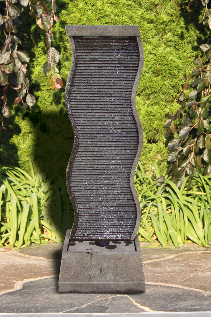 61 Quot Curved Water Wall Fountain Massarelli S