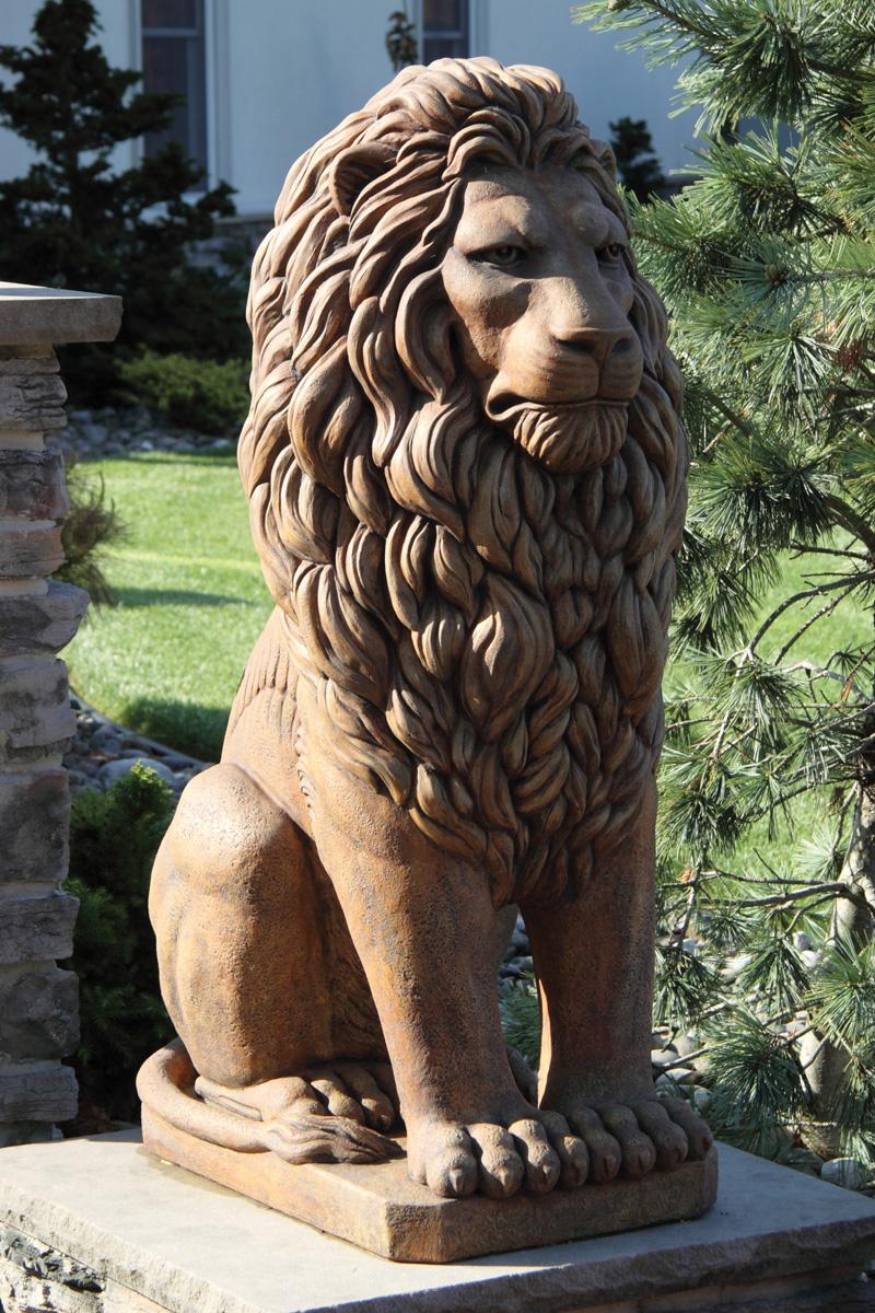 48 Quot Grandessa Sitting Lion Massarelli S