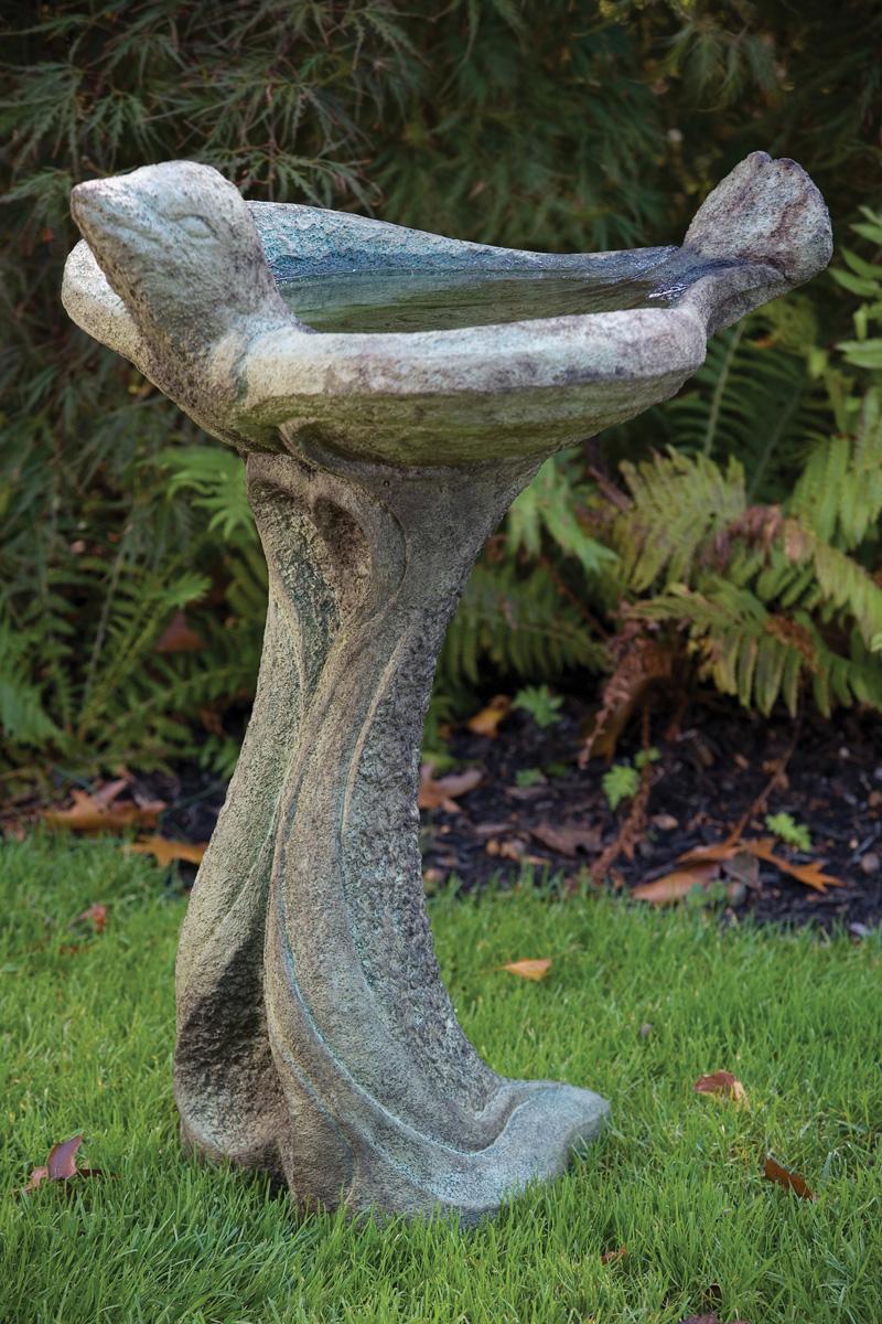 All Birds Welcome Bird Bath Massarelli S