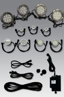 Ez fountain lighting massarellis ez lighting kit for a medium two tier fountain on 6 pool aloadofball Gallery