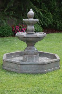 Opal Fountain On Octagonal Pool