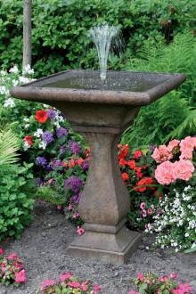 30 chelsea fleur de lis square fountain - Garden Fountains